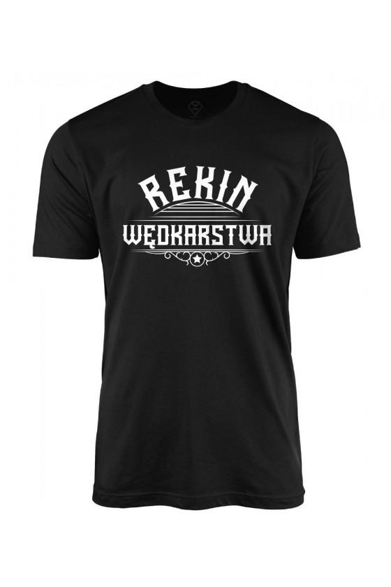 Koszulka męska z napisem Rekin Wędkarstwa
