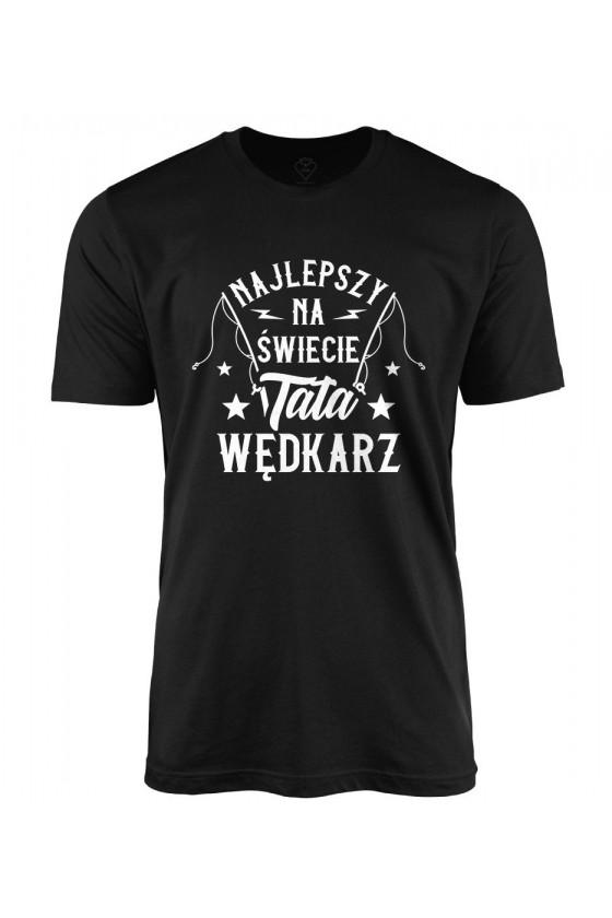 Koszulka męska Najlepszy na świecie Tata wędkarz