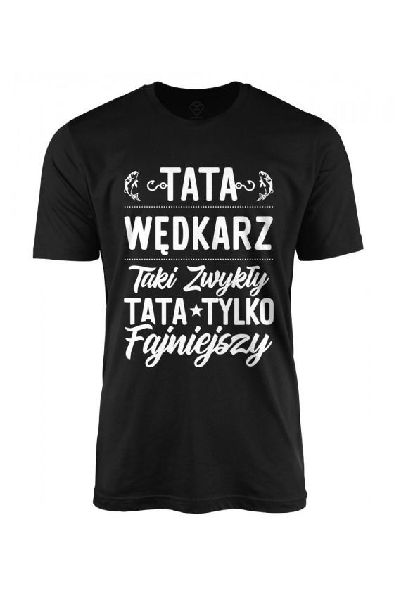 Koszulka męska Fajniejszy Tata wędkarz