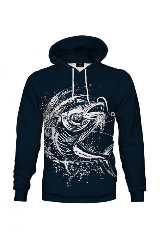 Bluza bawełniana Wielki połów (ciemnoniebieska)